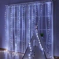 2022 neue Jahr Weihnachten Garland Vorhang Fee String Licht Frohe Weihnachten Dekorationen für Startseite Xmas Geschenke Noel Navidad 2021