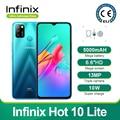 Новая модель Infinix Hot 10 Lite глобальная версия 2 ГБ 32 ГБ мобильный телефон 6,6 дюйма HD 1600*720P аккумулятор 5000 мАч камера 13 МП четырехъядерный процесс...