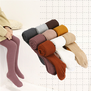2020 Baby Autumn Winter Tights Baby Toddler Kid Girl Stockings Knit Warm Pantyhose Candy Color Knitted Tight Warm Pantyhose