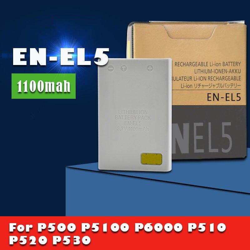 1-EN-EL5 ENEL5 EN EL5 10PCS 3.7v 1100mAh Bateria Para Nikon Coolpix P4 P80 P90 P100 P500 P510 P520 P5000 células de Câmera Digital SLR