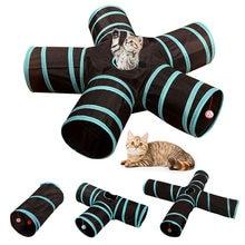 Gato de estimação Túnel Brinquedos 3/4/5 Furos Dobrável Gatinho Gato de Estimação Treinamento Interativo Brinquedo Divertido Para Gatos Animais Coelho jogar Túnel Tubos