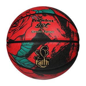 Basketball High Quality PU Material Ball Size 7 For Men Women Sports Play Indoor Outdoor Rose Pattern Street Basketball