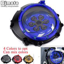 CNC S1000 S 1000 R XR Racing Clear Clutch Cover & Spring Retainer R For BMW S1000R S1000RR S1000XR 2015 2019 HP4 HP 4 2012 2018