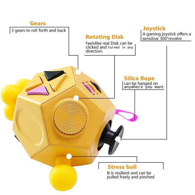 12 Side Anti Stress Cube