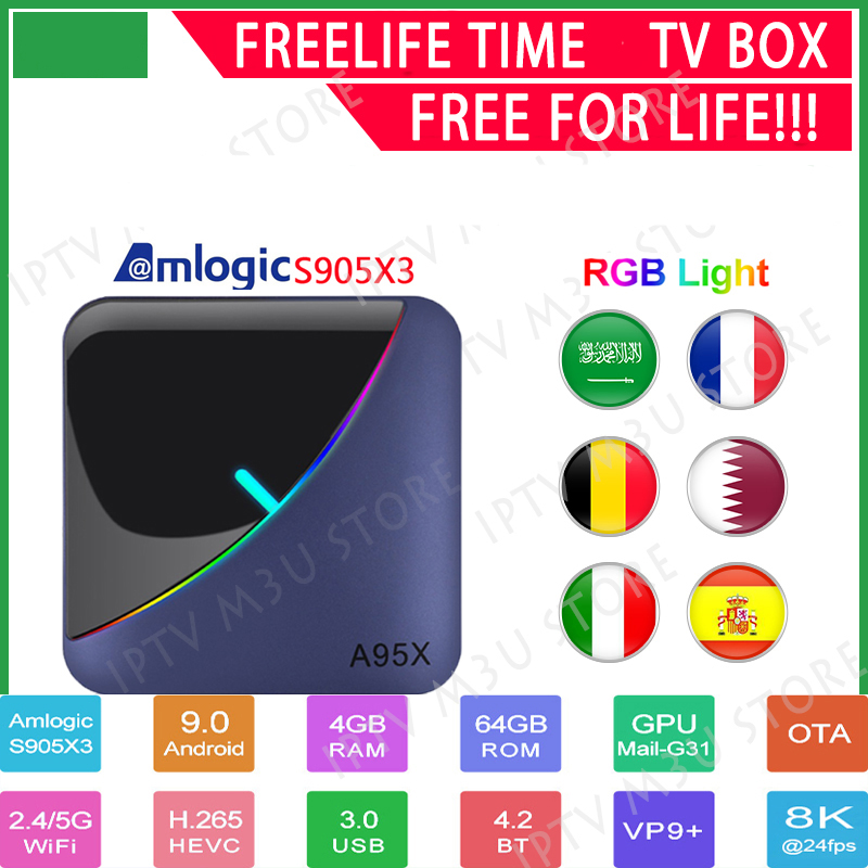 Smart TV BOX A95XF3 AIR Android 9.0 Amlogic S905X3 8k Netflix Plex Media Server Play Store Free App Set top BOX PK HK1MAX H96 image