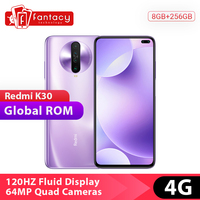 In Stock Global Rom Xiaomi Redmi K30 4G Snapdragon 730G 8GB 256GB Smartphone Octa Core 64MP Quad Camera 6.67 120HZ Fluid Screen