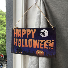 Wooden Crafts Halloween Harvest Thanksgiving Pumpkin Festival Hanging Board Family Decoration