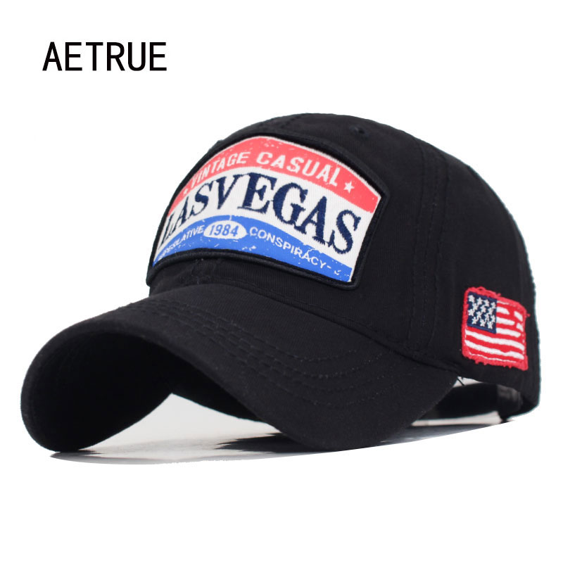 <font><b>LASVEGAS</b></font> Snapback Caps Women USA Flag Men Baseball Cap Hats For Men Bone Gorras Cotton Male Baseball Hat Casquette Dad Hat Cap image