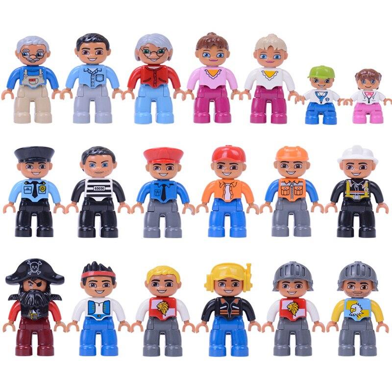 1 шт. фигурки блоки совместимы с большой фигурки животных строительный блок доктор Детские вор полицейский развивающая игрушка для детей