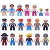 Figuras de acción de bloques compatibles con DuploING, animales de bloques de construcción, Doctor, ladrón de bebé, policía, juguete educativo para niños