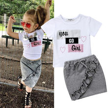 Newest Arrival Summer Casual Toddler Kids Baby Girls Tops Sh