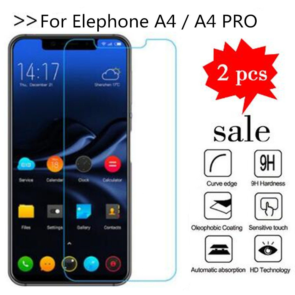 Tempered Glass For Elephone A4 Screen Protector Premiun Phone Protection Film Case For Elephone A4 / A4 PRO Tempered Glass