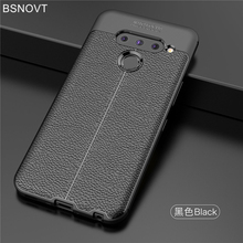 For LG V50 Case Shockproof Soft PU Leather Silicone Bumper Anti-knock Phone Cover ThinQ BSNOVT