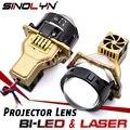 Sinolyn Bi светодиодный проектор Лазерный светильник s светодиодный светильник объектив 68 Вт 11190lm 3 дюйма Автомобильные фары головного светильн...
