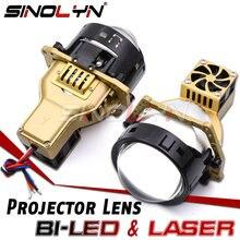 Sinolyn Bi PROJECTEUR LED Lumières Laser Lumière LED LENTILLE 68W 11190lm 3 Inch automobile Lentilles Phare Tuning W/Hella 3R G5 SUPPORT