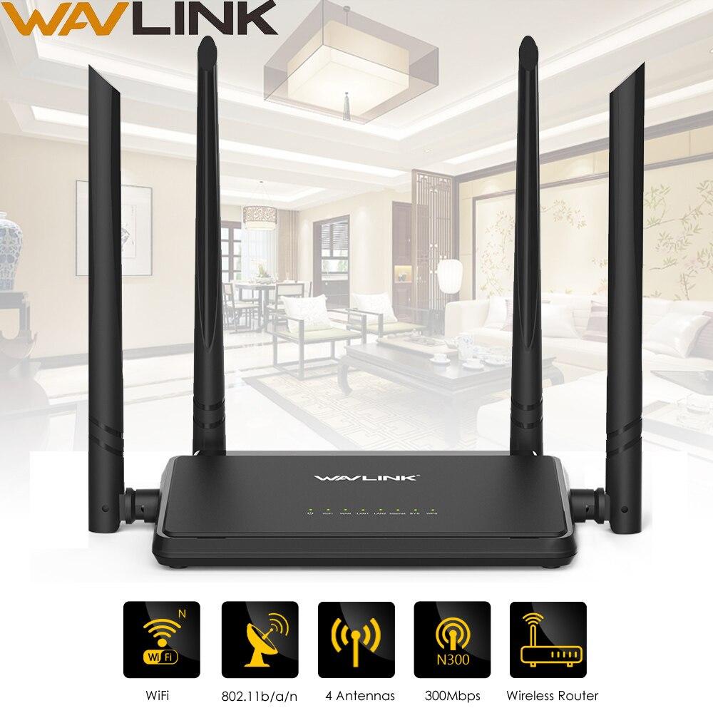 Wavlink N300 300 Mbps Wireless Smart Wifi Router Repeater Access Point Mit 4 Externe Antennen WPS Taste IP QoS Geschwindigkeit 2 Schnelle