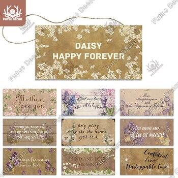 Putuo, decoración de flores, letrero de madera para jardín, placas, etiquetas de Regalo De Amistad encantadora para jardín, decoración rústica para pared, decoración para el hogar