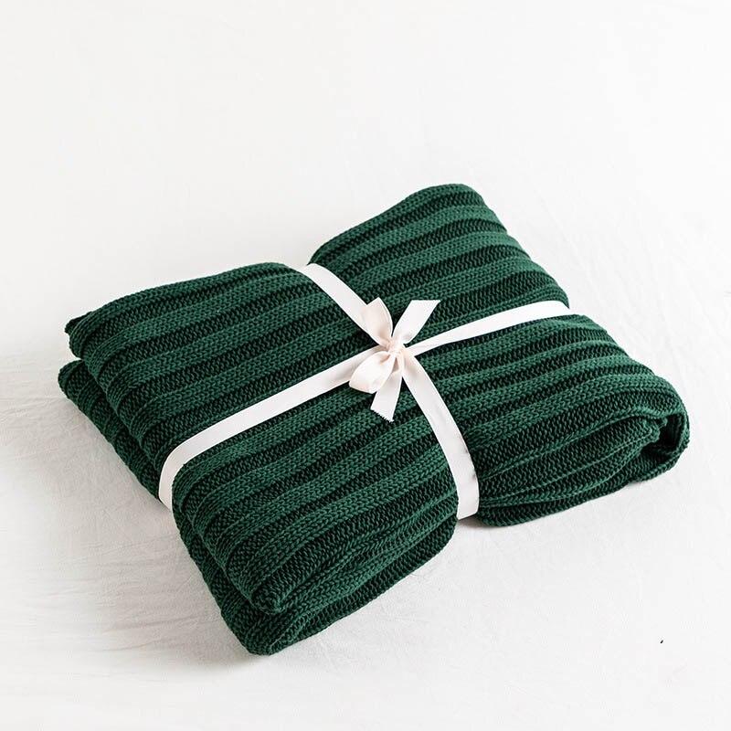 ニット装飾スローブランケットボールオフィス昼寝旅行ソファチェック柄子供大人 Cobertor 布団冬のベッドカバー  グループ上の ホーム&ガーデン からの 毛布 の中 2