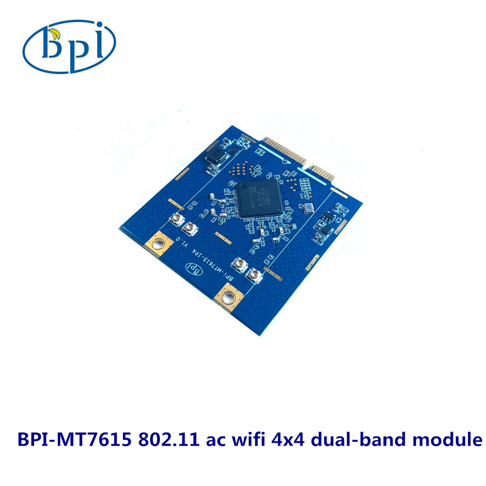 BPI-MT7615 802.11 Ac Wifi 4x4 Dual-band Module Base On MTK MT7615 Chip Design, Support R2 And R64
