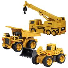 High Quality New 1/64 Excavator Truck Dumping Car Crane Mini Construction Vehicle RC Toys With Box Packing(China)