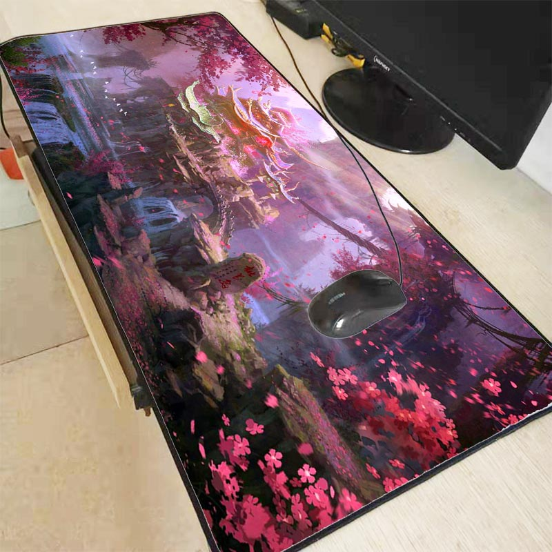 Mairuige Japanese Fantasy Flower Mouse Pad Large Pad Laptop Mouse Notbook Computer Creative Rubber Mat Gaming Mousepad For LOL