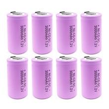 Wysokiej jakości bateria akumulator sub bateria SC ni-cd bateria 1.2 v z zakładką 3000 mAh dla elektronarzędzie