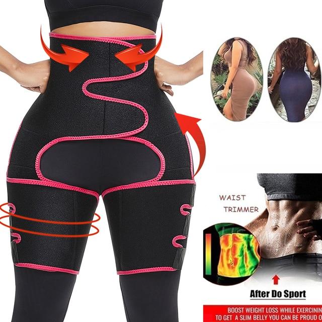 Big Sale Sweat Slim Thigh Trimmer Waist Trainer Leg Shapers Slender Slimming Belt Shapewear Muscles Band Weight Loss Body Shaper