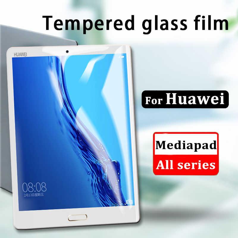 "9D kavisli kenar temperli cam Huawei MediaPad P20 M5 Lite Pro 10.8 8.4 M3 Lite 10.1 8 ekran koruyucu için MediaPad T3 10"""