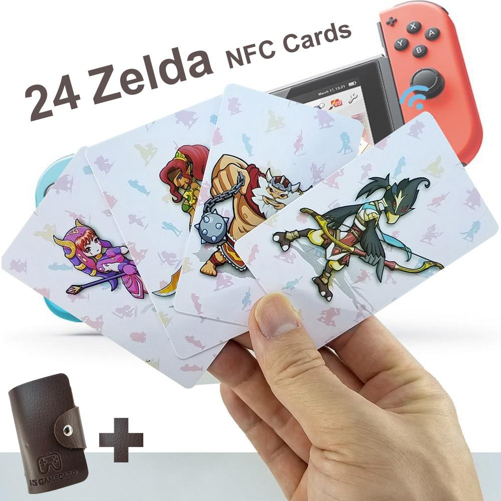 24 NFC Game Cards Compatible For Botw Switch Zelda Breath Wild Super Mario Smash Cart 8 Bros Odyddey Splattoon 2 Kriby Ultimate