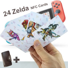 24 NFC tarjetas de juego Compatible para Botw interruptor de Zelda aliento Super Mario Smash Bros carro 8 Odyddey Splattoon 2 Kriby final(China)