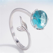 Open the index finger ring silver can be adjusted Contracted, personality Students present Womens fashion jewelry