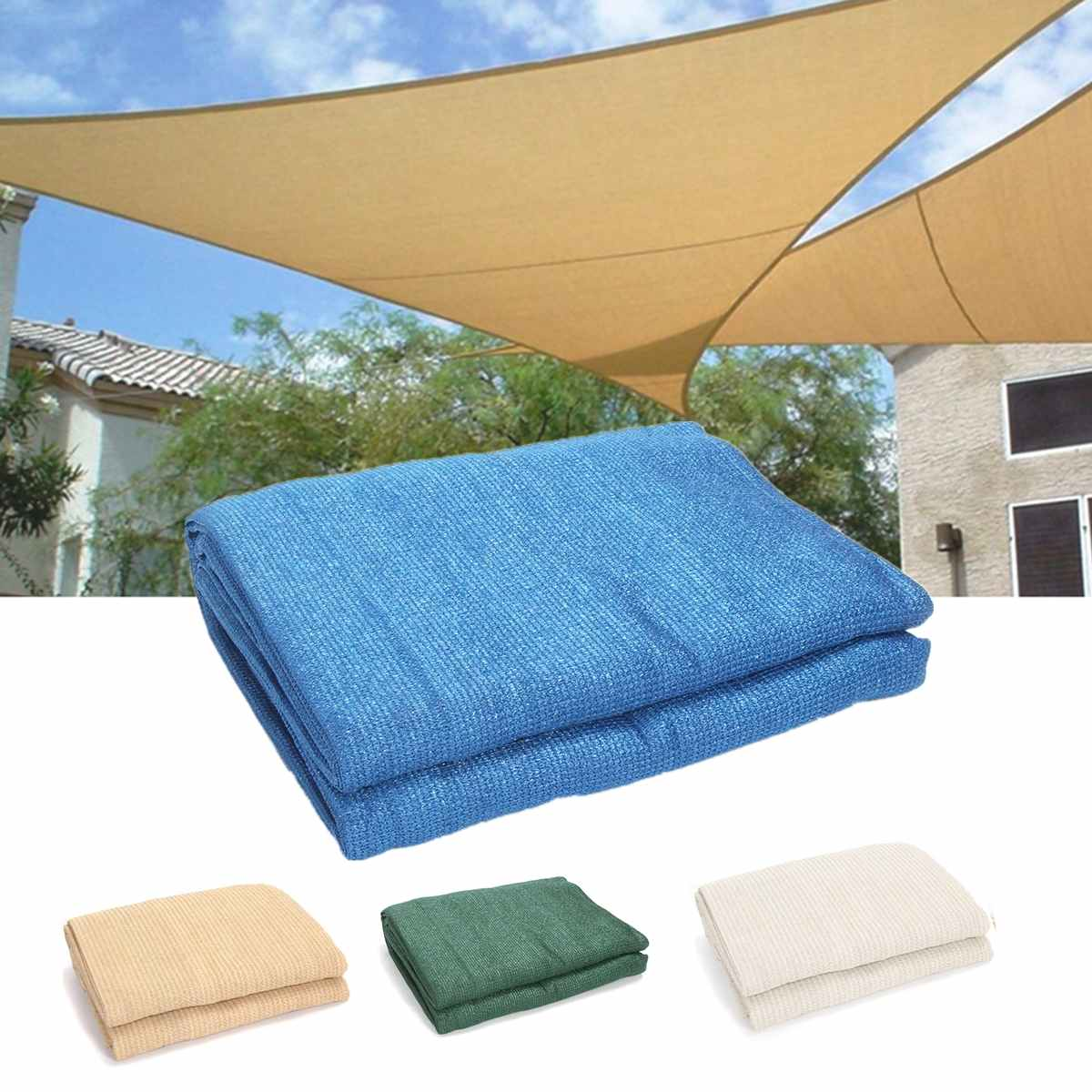 3//4//6M Sunshade awning Triangle Outdoor Top Canopy Patio UV  Block awning