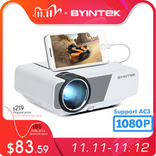 BYINTEK K1plus Portable Home Theater Mini 1080P Video Game LED Projector Beamer Proyector for Smartphone 1080P 3D 4K Cinema