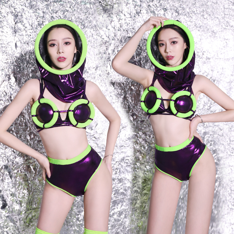 Women Sexy Outfits Suit Set Singer Model DJ DS Night Club Bar Stage Show Modern Dance Wear Costumes