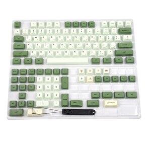 Image 2 - Colorant Matcha Sub ZDA PBT Keycap similaire à XDA japonais coréen russe pour clavier MX 104 87 61 mélodie 96 KBD75 ID80 GK64 68 SP84