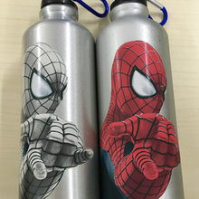 Cold color changing spider man  Water Bottle outdoor Exercis