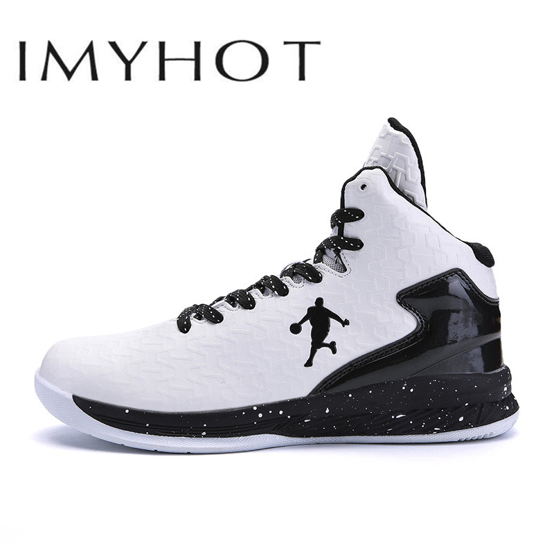 Cushioning-Light Basketball-Shoes High-Top Outdoor Breathable Man Anti-Skid Men Men's title=