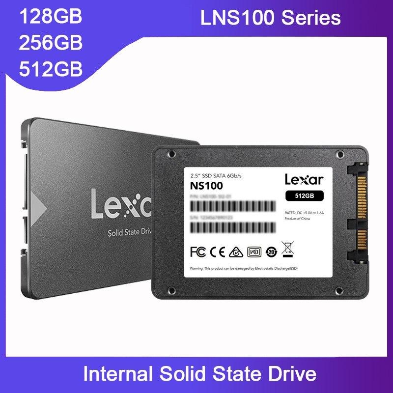 """Disque dur Original Lexar 512GB SSD 128GB 256GB sata3 iii disque dur 1 to 2 to 2.5 """"avec adaptateur 3.0 boîtier boîtier HD pour ordinateur portable et PC"""