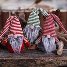 Xmas new Year Handmade Vintage Swedish Gnome Elf Plush Nordic Santa Claus Dwarf for Holiday Christmas Home Decoration Gift Toys