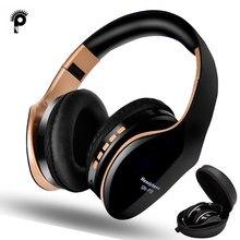 & Nbsp; fones de ouvido sem fio bluetooth 5.0, fone de ouvido dobrável, 3d baixo estéreo, redução de ruído, microfone para jogos, celular e pc