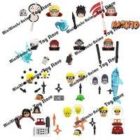 Vendita singola Naruto blocks Building Blocks giocattoli Anime cartoon personaggi giapponesi fai da te Naruto mattoni accessori regali per bambini