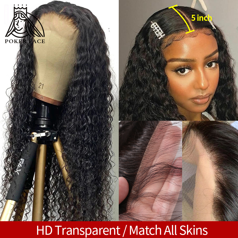 30 32 дюймов глубокая волна кружева человеческие волосы парики предварительно вырезанные бразильские кудрявые вьющиеся 5x5 Кружева Закрытие ...