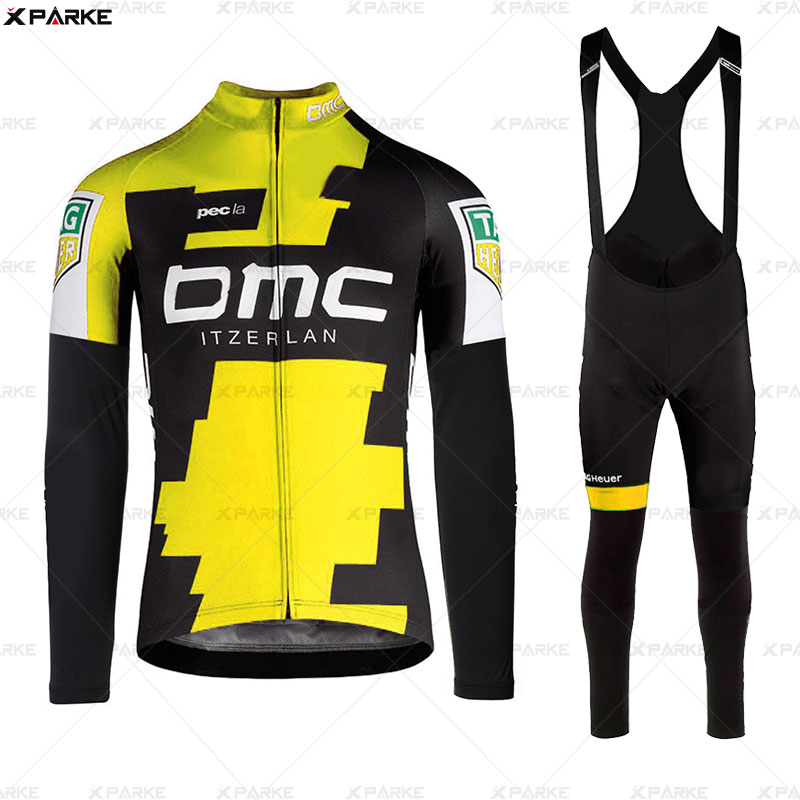 New Style Autumn BMC Cycling Jersey Long Sleeve Bib Pants Bicycle Clothes Fluo Ropa Roupa De Ciclismo Invierno MTB Bike Clothing