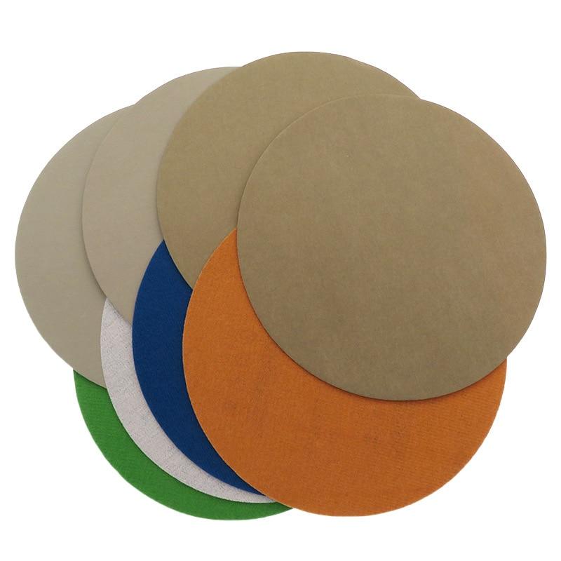 Vibratite 996A7-Inch 180 Mm Round Plates Flocked Self-Adhesive Waterproof Abrasive Paper Resin Plastic Glass Polishing