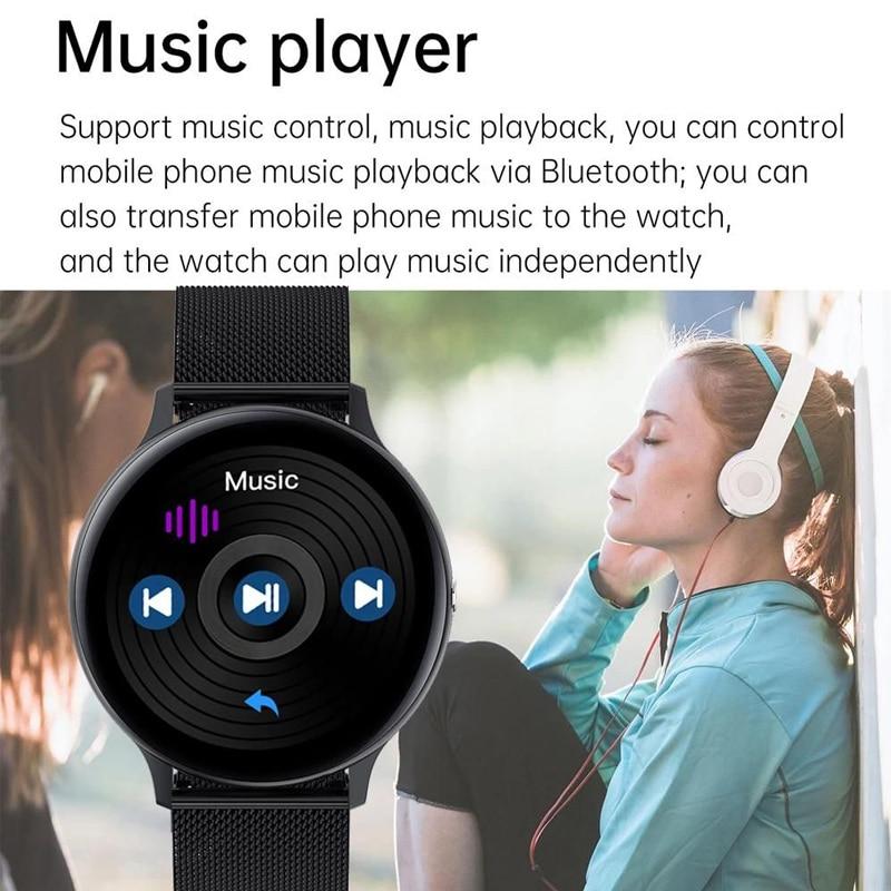 Смарт-часы для мужчин и женщин, фитнес-браслет с поддержкой Bluetooth, с сенсорным экраном 2