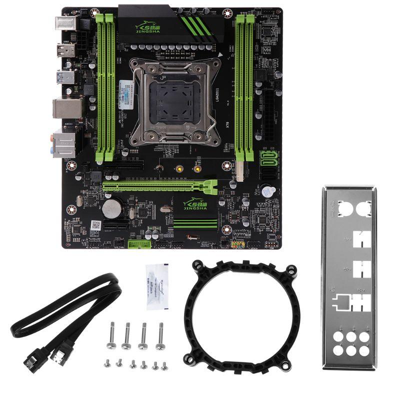 X79 Motherboard 2011 ATX Placa Principal USB3.0 SATA3.0 PCI-E 16X NVME M.2 SSD suporte ECC REG memória e E5 CPU processador