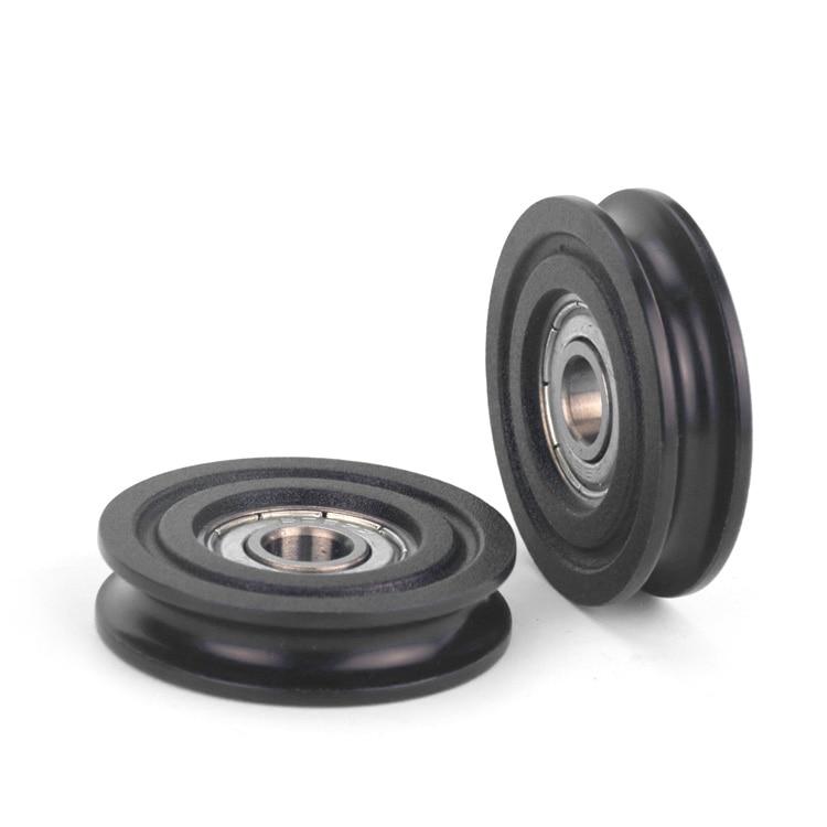 whole Sale Ugroove type ball bearing wheel roller 8*40*10MM 608ZZ bearing Nylon Wheel for furniture