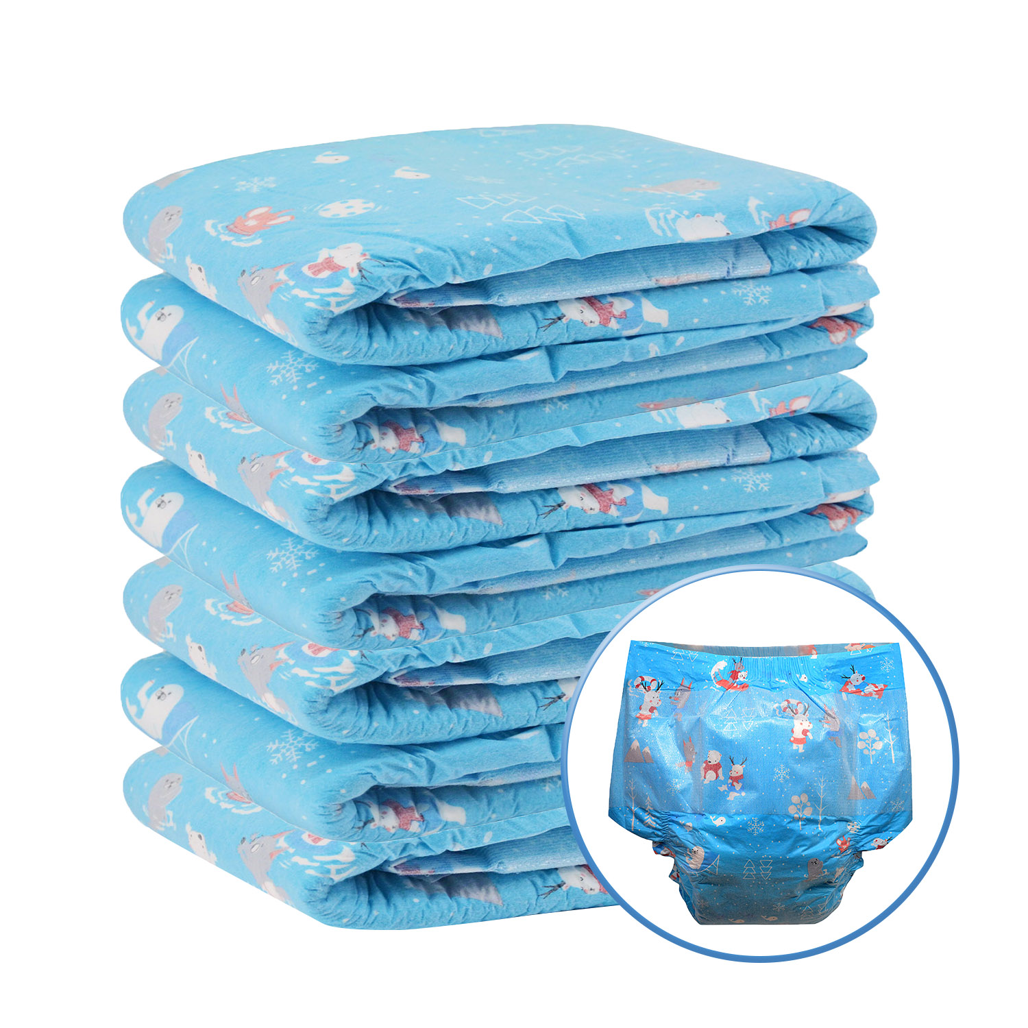 7pcs In A Pack ABDL Adult Diaper Large Size Weekly Diaper 6000ml Absorbtive DDLG Daddy Dummy Dom
