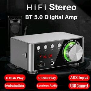 Image 2 - Novo bt5.0 amplificador digital classe d potência amplificador casa 100w estéreo de alta fidelidade som amplificador áudio suport aux tf mp3 player