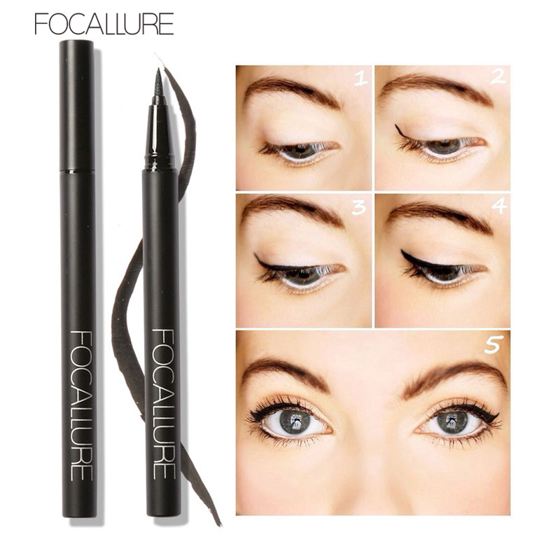 Professional Liquid Eyeliner intense black Pen Eye Liner Pencil 24 Hours Long Lasting Water-Proof Fast Quick Dry image